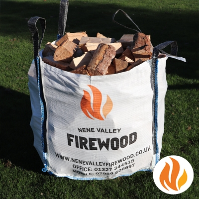 Seasoned Softwood Logs bulk bag
