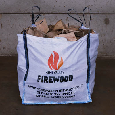 Kiln dried hardwood logs big bag